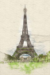 Eiffel tower scenes e