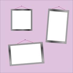 three photo frames