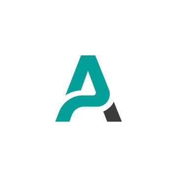 Creative letter a logo design vector template