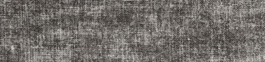 vintage black and white grunge background with canvas or burlap texture
