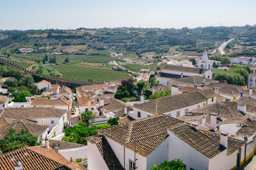 Fortified city of Obidos, Oeste, Leiria District, Portugal, Europe