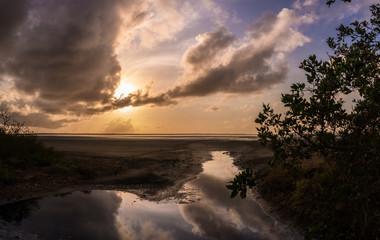 Beautiful lagoon at dawn