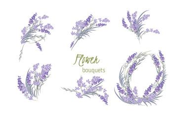 Floral lavender retro vintage background Wall mural