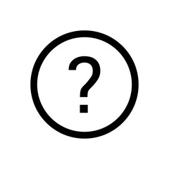 Question vector icon, ask symbol. Simple illustration, flat design for web or mobile app