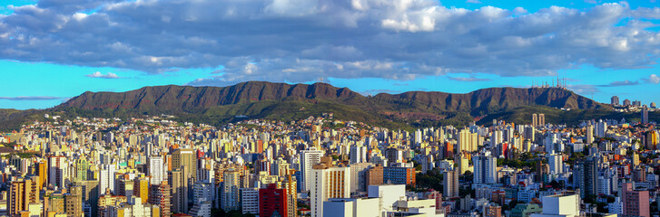 Photo sur Toile Brésil panoramic views of Belo Horizonte, capital of Minas Gerais, Brazil