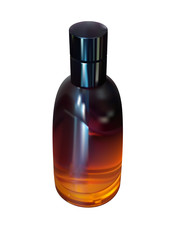 perfume in orange bottle