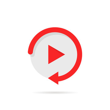 video play button like simple replay icon