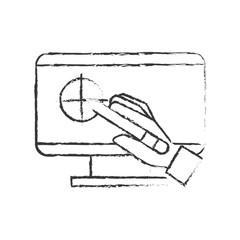 hand holding digital pen computer graphic design