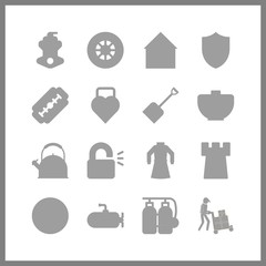 steel icon. padlock and motor vector icons in steel set. Use this illustration for steel works.