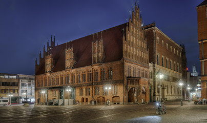 Hannover Altstadt mit Stadtkirche Nacht