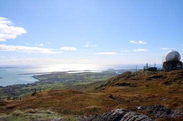 Ocean view from the top of mount Gabriel West Cork