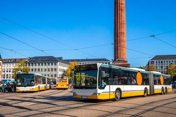 Stadtbusse am Luisenplatz, Darmstadt