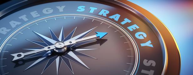 Dunkler Kompass mit Lichtspiel - Strategy