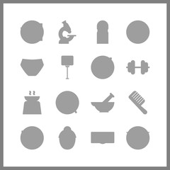16 health icon. Vector illustration health set. patient and sports ball icons for health works