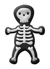 Cute skeleton illustration isolated on white