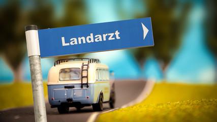 Fototapete - Schild 366 - Landarzt