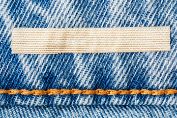 Blank Label On Denim Jeans Texture