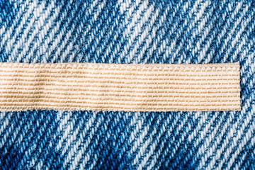 Blank Label On Denim Jeans Texture