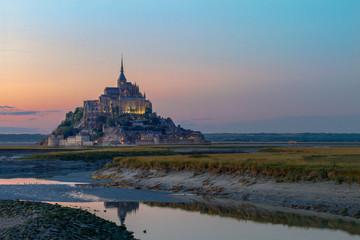 Sunset Normandie Mont St Michel