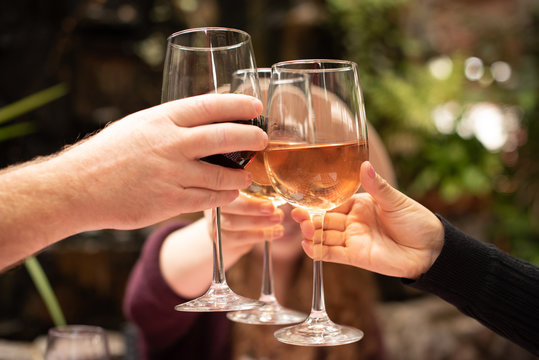 Cheers!  A toast to Rose and Syrah.