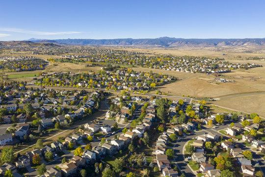 Small Town and Suburban Sprawl In Colorado