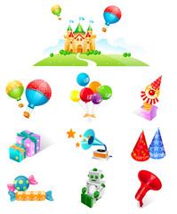 Various celebration favors