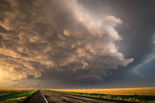Stormclouds Crossing the Road
