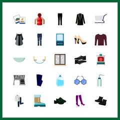 modern icon. trousers and boots vector icons in modern set. Use this illustration for modern works.
