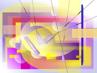 Composizione geometrica, Illustrazione grafia.