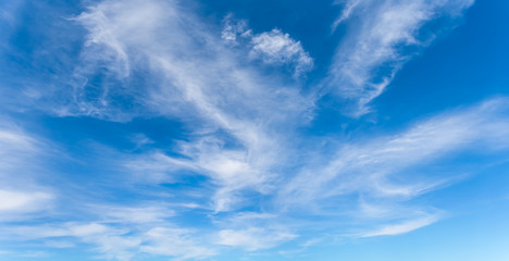 nature background, blue sky with light clouds