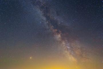 milky way on the dark night sky background