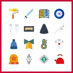 object icon. syringe and winter hat vector icons in object set. Use this illustration for object works.