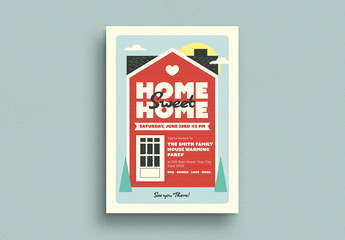 Housewarming Invitation Flyer Layout