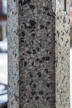 Close up of textured column