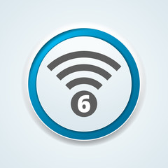 Wi-Fi 6 generation button illustration