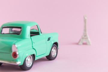 Travel to Paris minimalistic concept.