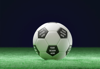 Soccer Ball on Field Mockup