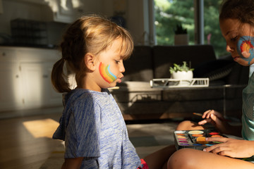 Girls with face paint