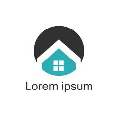 Home Logo Template. Vector Illustrator