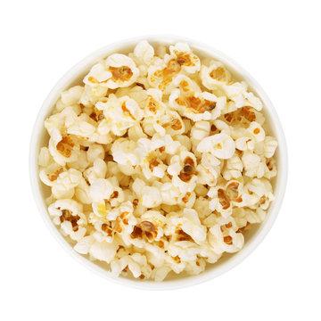 Top view of popcorn bucket