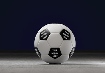 Soccer Ball on Concrete Mockup