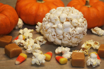 Halloween popcorn ball