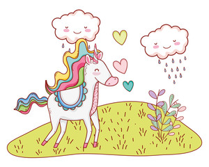 Unicorn fantastic cartoon