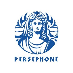 Greek goddess Persephone illustration