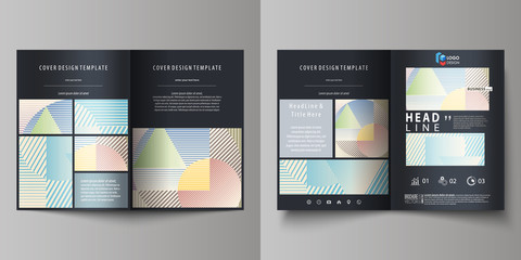 Business templates for bi fold brochure, magazine, flyer, booklet. Cover template, abstract vector layout in A4 size. Minimalistic design with lines, geometric shapes forming beautiful background.