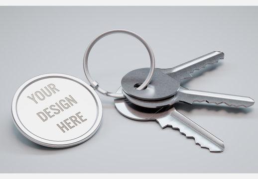 Circle Key Ring Mockup