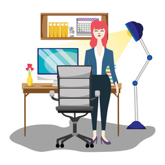 Woman executive worker
