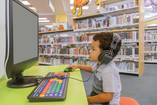 A  fun filled day at the community public library to focus on the computer.