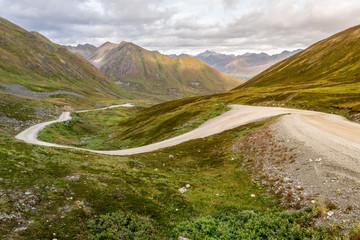 Winding Road in Hatcher pass, Palmer, Alaska