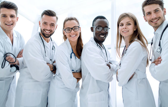 healthcare and medical concept - picture young attractive doctor